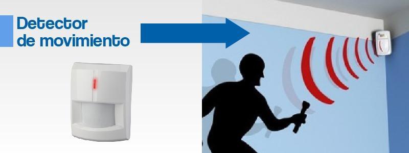 Detector de movimiento de alarma