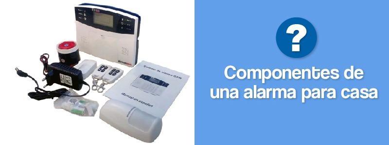 Componentes de una alarma para casa